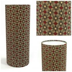 Lampe tube - Déco africaine - Tissu wax
