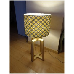 Custom made drum lamp shade