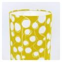 """Luminaire """"Fleur de coton"""" (jaune)"""