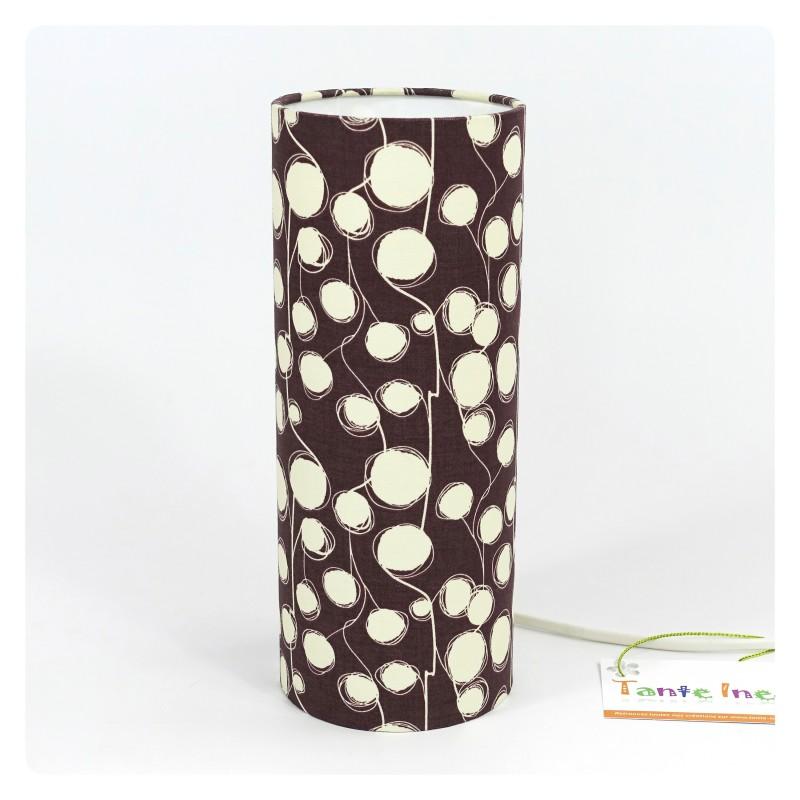 """Lampe tendance """"Fleur de coton"""" (chocolat)"""