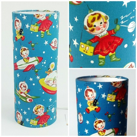 """Kid retro lamp """"Let's go to the moon!"""""""