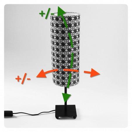 Custom made cylinder lamp shade