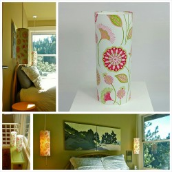 Custom made cylinder lampshade